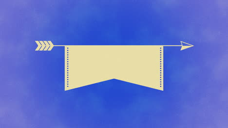 Animated-closeup-romantic-arrow-and-ribbon-on-blue-Valentines-day-background