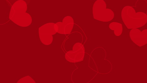 Animated-closeup-romantic-red-small-hearts-on-Valentines-day-background-