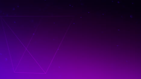 Motion-geometric-triangular-with-particles-in-space-abstract-purple-dark-background