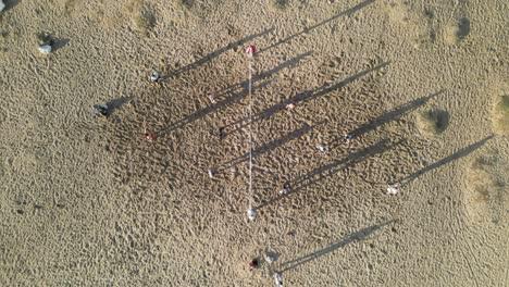 Volleyball-Sand-Strand-Luftdrohnenaufnahme