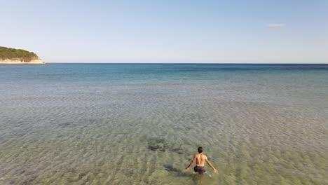 Swimming-Sea-Aerial-Drone