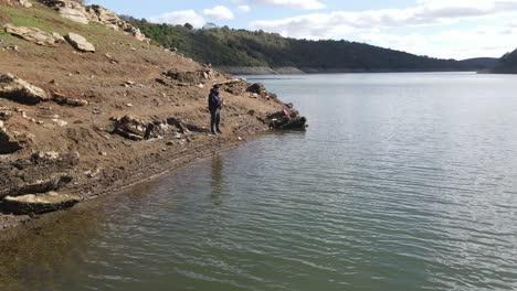 Aerial-Drone-View-Fishing-Lake