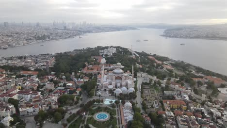 Drone-Aéreo-Mezquita-Ayasofya-Santa-Sofía