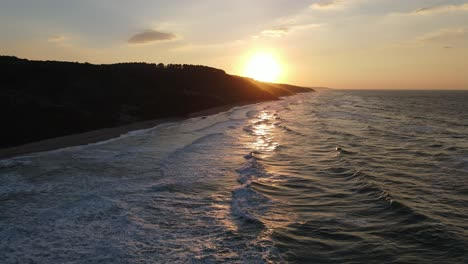 Sunset-Sea-Waves