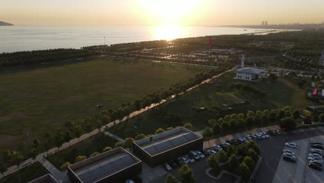 Aerial-View-Sunset-Park-Seaside