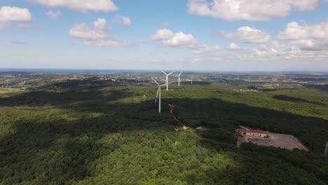 Luftdrohne-Windturbine-Rotierende-Windmühlen-Grüne-Energie