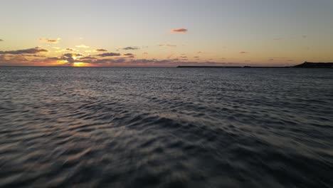 Sunset-Ocean-Waves-Aerial-View