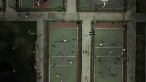 Drone-Shot-Young-Mens-Playing-Volleyball-1