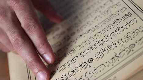 Reading-The-Quran-In-Mosque-Using-Finger-As-A-Guide-2