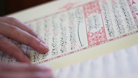 Leyendo-El-Corán-En-La-Mezquita-Usando-El-Dedo-Como-Guía-1