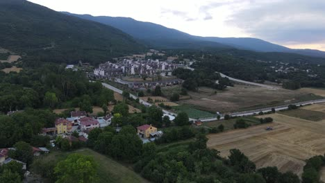 Aerial-Drone-Rural-Forest-Village