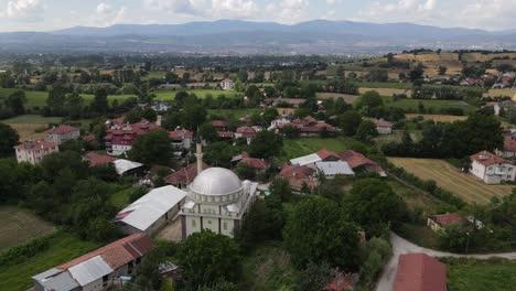 Aerial-Village-Muslim-Mosque