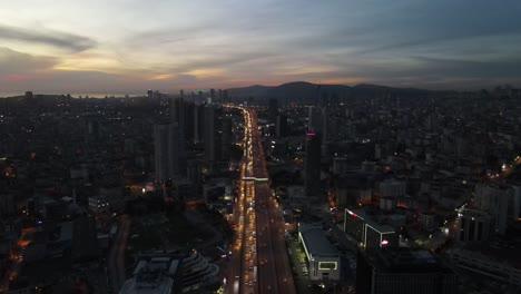 Tráfico-Nocturno-De-Drones-Aéreos