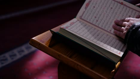 Reading-The-Quran-In-A-Sunny-Mosque