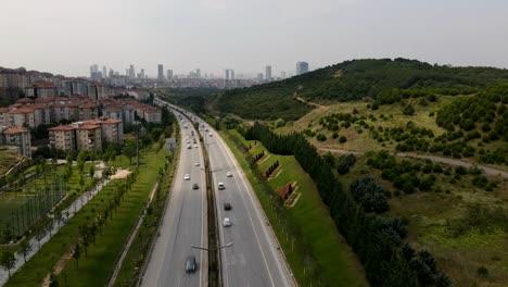 Drohnen-Luftbild-Hyperlapse-Verkehr