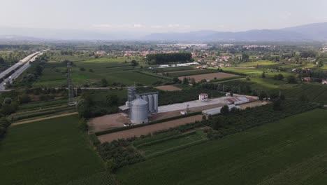 Farm-Wheat-Silo-Drone-Shot