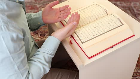 Muslim-Prayer-In-Mosque-With-Quran