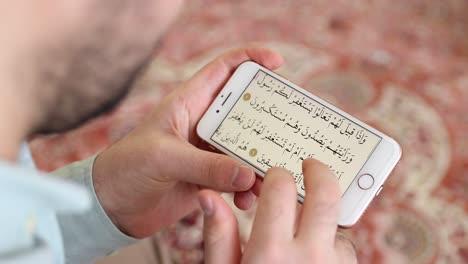 Muslim-Man-Reading-Quran-In-Mosque