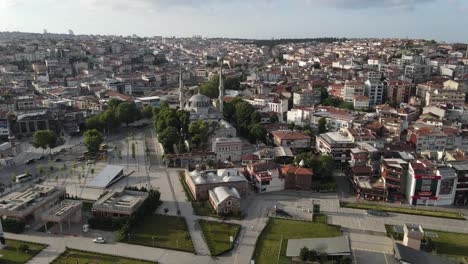 Islamic-Mosque-Uskudar-Of-Istanbul-Aerial-View
