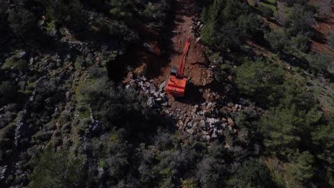 Excavator-Roadwork-Drone-View