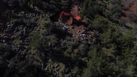 Road-Construction-Of-Excavator-Aerial-Access