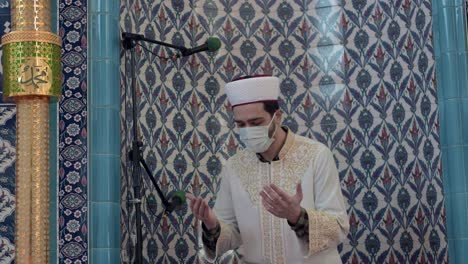 A-Young-Man-Praying-In-The-Mosque-During-Pandemic
