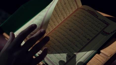 Muslim-Man-Reading-Quran-In-Mosque-3