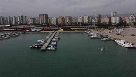 Aerial-View-Sea-Boat-Marina