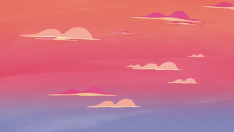 Cartoon-Animationshintergrund-Mit-Bewegungswolken