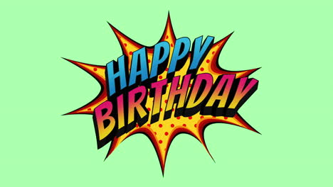 Animated-closeup-Happy-Birthday-text-on-holiday-background