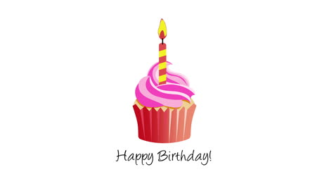 Animated-closeup-Happy-Birthday-text-with-candle-on-holiday-background