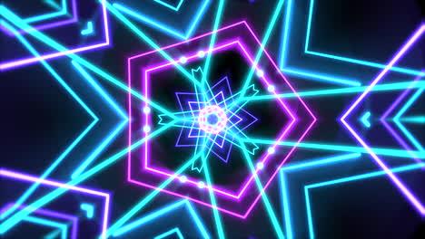 Bewegung-Bunte-Neon-Geometrische-Form-Im-Raum-1