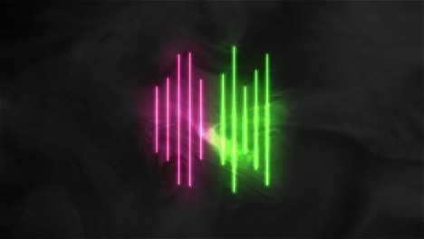 Animation-abstract-neon-green-and-red-lines