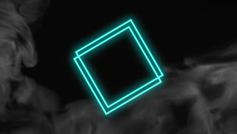 Animation-abstract-neon-green-squares