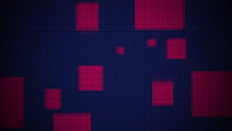Animación-Abstracta-Neón-Cuadrados-Rojos