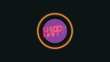 Animation-text-Fathers-day-on-fashion-and-club-background-with-glowing-purple-ring