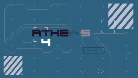 Animation-closeup-Fathers-Day-text-with-futuristic-shapes-on-space-ship