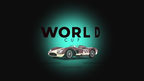 Motion-retro-car-and-text-World-Cup