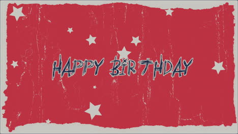 Animation-text-Happy-Birthday-on-red-hipster-and-grunge-background-with-retro-stars