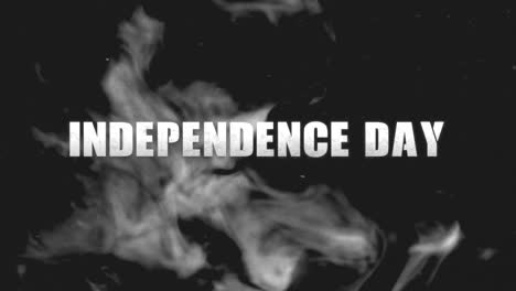 Animation-text-Independence-Day-on-military-background-with-dark-smoke