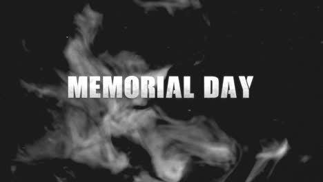 Animation-text-Memorial-Day-on-military-background-with-dark-smoke