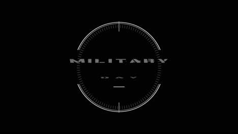 Animationstext-Militärtag-Auf-Schwarzem-Militärhintergrund-Mit-Ziel