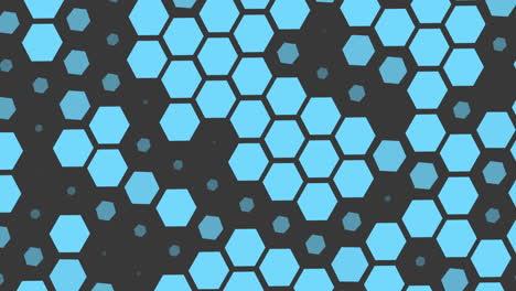Motion-geometric-blue-hexagons-pattern