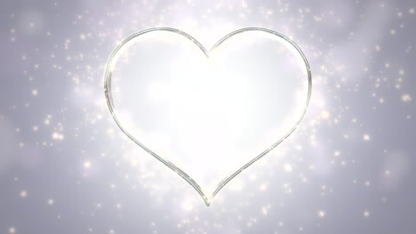 Animation-white-hearts-of-love-with-glitters