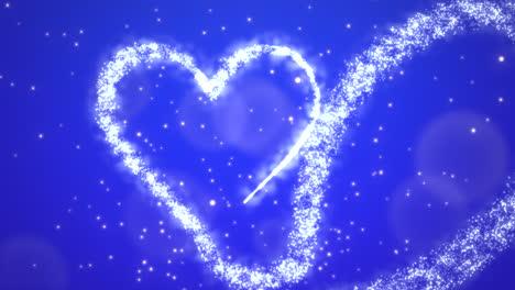 Animation-Weiße-Herzen-Der-Liebe-Mit-Glitzer-1
