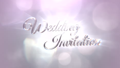 Closeup-text-Wedding-Invitation-with-motion-white-and-silver-bokeh