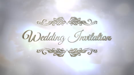Closeup-text-Wedding-Invitation-with-motion-white-and-silver-bokeh-1