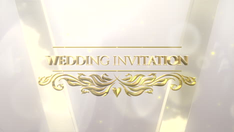 Closeup-text-Wedding-Invitation-with-motion-white-and-gold-bokeh-with-frame