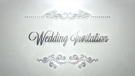 Nahaufnahmetext-Hochzeitseinladung-Und-Vintage-Rahmen