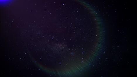 Cámara-De-Movimiento-Sobre-Fondo-Cinematográfico-Con-Efecto-Nublado-Y-De-Luz-En-Galaxia-
